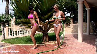 Water Seduction by Sapphic Erotica - lesbian love porn with