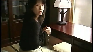 Beautiful japanese mom and her son 1