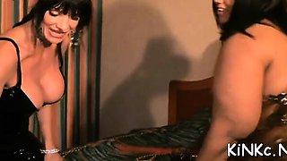 Mistress gets dildo sucked
