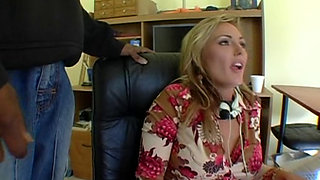 Slut gets fucked her in a work interview