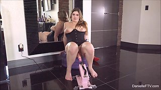 Chubby Danielle is about to try out the newest of her sex toys