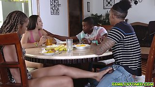 Black monster cocks ravaging on Misty and Adriana