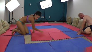 Sweaty Mixed Wrestling and Grappling, Skyler Rene HD