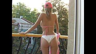Hottest big natural tits ever in a sexy bikini