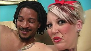 Black guy gets lucky with Candy Monroe in front of a cuckold