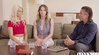 VIXEN Jillian Janson and Elsa Jean Share Their Professors Cock!