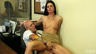 Sexy lady boss India Summer is having dirty sex with partner in the office