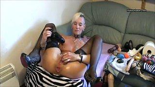 Extreme Anal toying of Kinky German mom