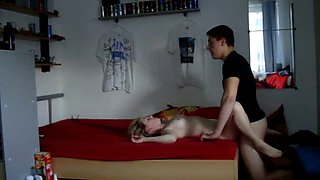 Horny austrian guy force fucks his reluctant teen sister