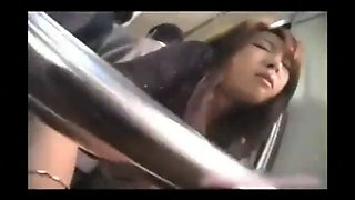 japanese milf doggy hammered in public bus