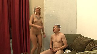 Lusty chick Coco Velvett fucks her kinky lover with a strap on