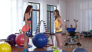 cock hungry fitness babes in threesome