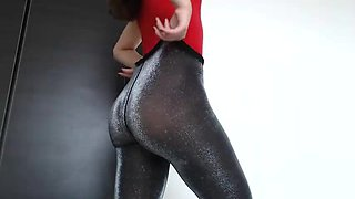 Hot Ass And Pussy Vibrating In Panty Hose