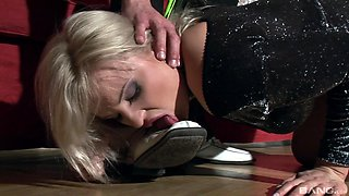 Gorgeous blonde Kassey fucked well by a horny stallion