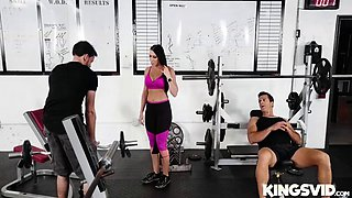 rachel starr in gym and pussy juice