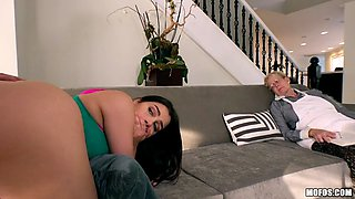 valentina nappi gets fucked beside by her sleeping grandma
