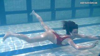 Ivetta having fun underwater