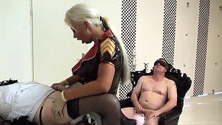 German mistress strapon bi FMM