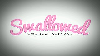 SWALLOWED Big tit Chanel and Dana swallow it all
