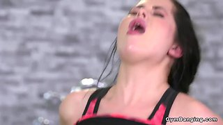 russian hottie gets fucked at the gym