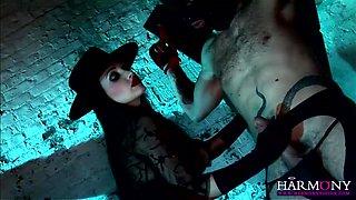 Devilish Brunette Plays With Her Sex Slave