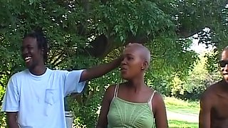 Bald African hottie gets tied up for some sexy fun