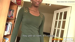 Big cock is too much for african cutie