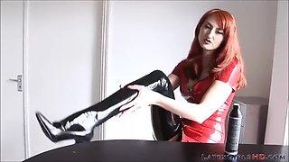 Redhead kendra james in latex