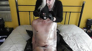 sadobitch - femdom-oil, pants and cum sniffing