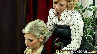 Glamour clothed ho spunk