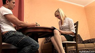 Ilona is a curious blonde who craves a pulsating dick