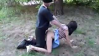 htf - vs young russian girl submits to getting forced in park