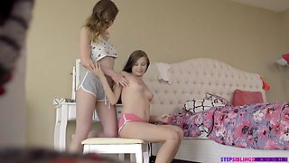 hot step sister threesome