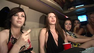 White drunken sluts in a reality sex party at the car