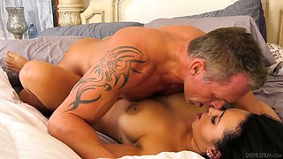 Tanned big breasted dark haired MILF Emori Pleezer is properly nailed mish