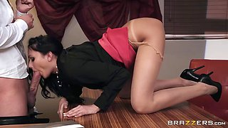plowing hot ariana's ass on the office desk
