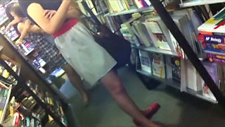 I made an incredibly hot upskirt video in the library