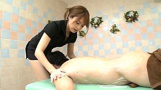 Crazy Japanese chick Akiho Yoshizawa in Fabulous fetish, bathroom JAV clip