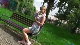 Public flashing with Katrin Kozy