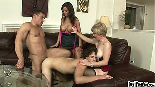 Sweet bitch Syren De Mer and her horny kooky enjoy nasty 4 some with bisexual studs