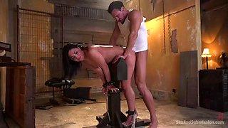truly brutal anal doggyfuck in bondage with amara romani