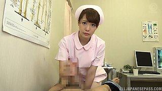 Hot nurse Airi Suzumura pleases a big load of stiff pecker