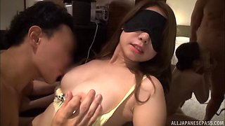 Mind-blowing babes from Japan are shagged in a pretty nice foursome