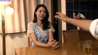 Sultry Asian wife gets her hairy peach fingered and fucked