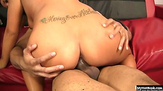 Blonde, Kylee Nicole, takes a break from exercising to get it on with a big cock