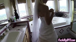 Bride and bridesmaid teens fucked by a nasty bridegroom