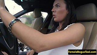 slutty taxi babe fucks with lucky passenger