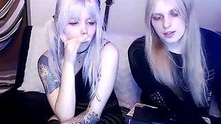 Goth emo teen gets abused on webcam for money