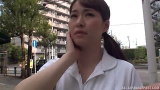 It is time to check out the cunny of the attractive Japanese nurse