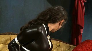 image Devoted worthless slave abused by her small cock master